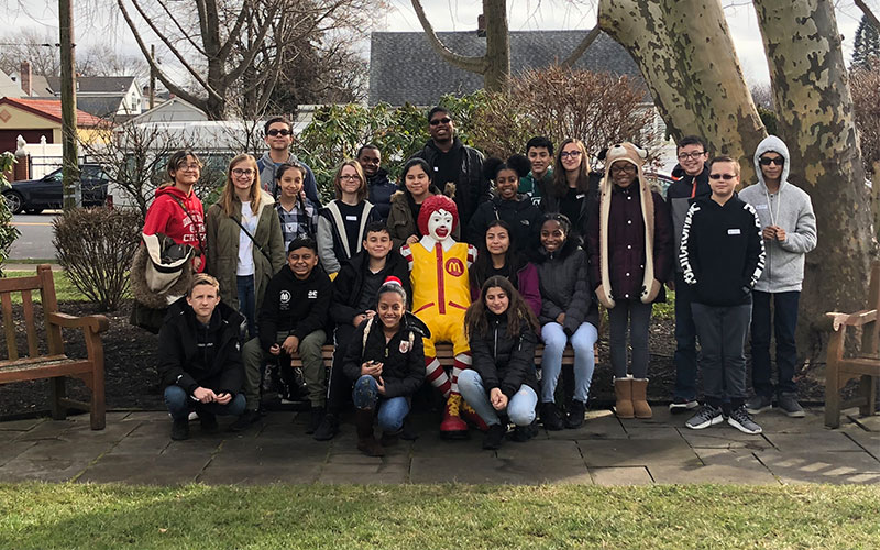 MS Students Deliver Candy, Cookies and Cheer for Children photo