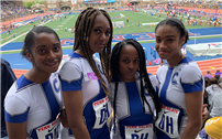 Girls Track Relay Team Takes Second photo
